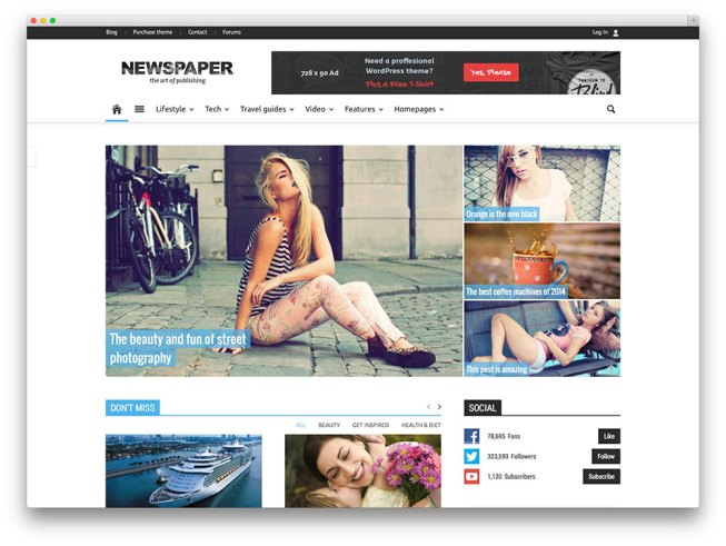 newspaper magazine Premium WordPress Templates