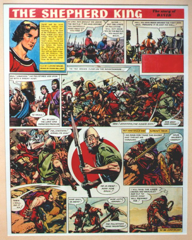 The Shepherd King by Frank Bellamy Comic Art