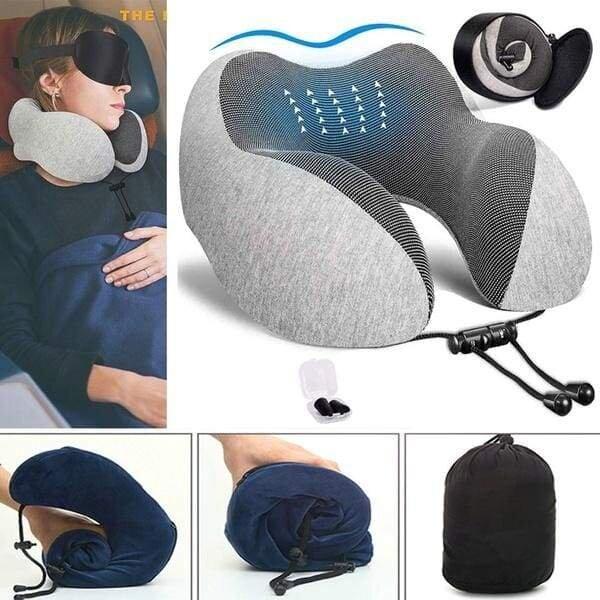 u shaped memory foam neck pillow