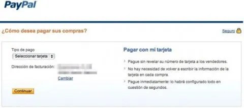PayPal pagar tarjeta