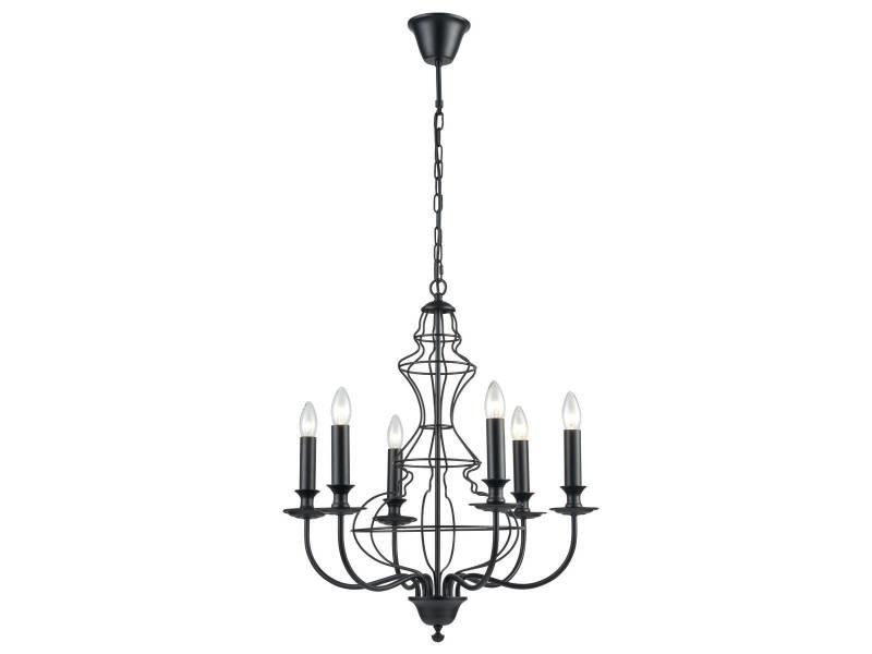 lustre baroque luci noir en metal