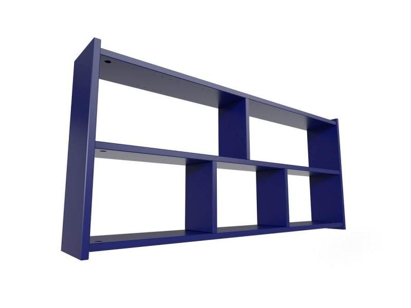etagere murale longueur 200 bleu fonce