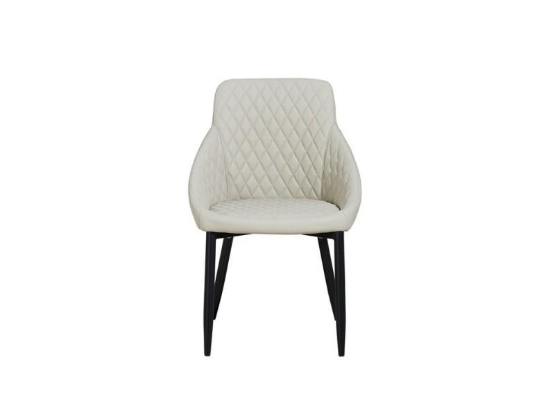 chaise auriga beige en metal tissu pour le bureau salon cuisine chambre