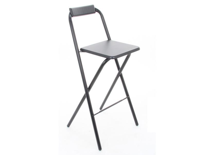 chaise de bar pliante louna noir