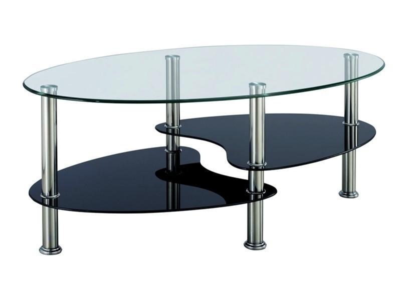 table basse verre trempe blanc