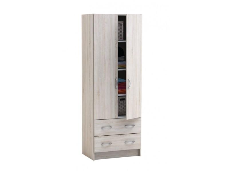armoire lingere 2 portes 2 tiroirs laud