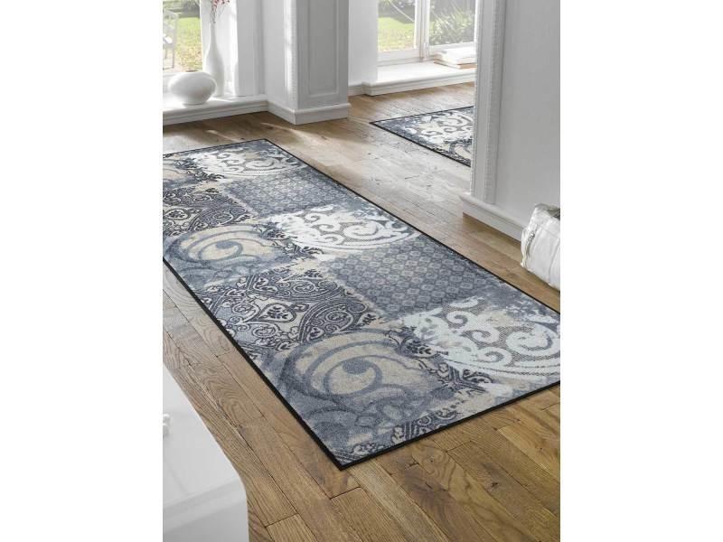 tapis pour couloir arabesque tx gris 75 x 190 cm paillassons par kleen tex