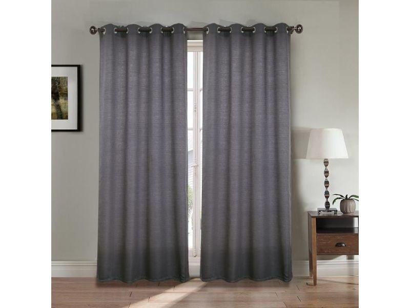 rideau double gris
