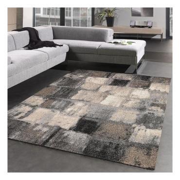 tapis design et moderne 120x170 cm rectangulaire carreaulegant 01 gris salon adapte au chauffage par le sol k71036555