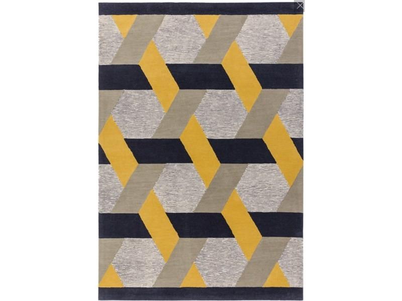 tapis de salon en laine tisse plat campton 200x300 cm