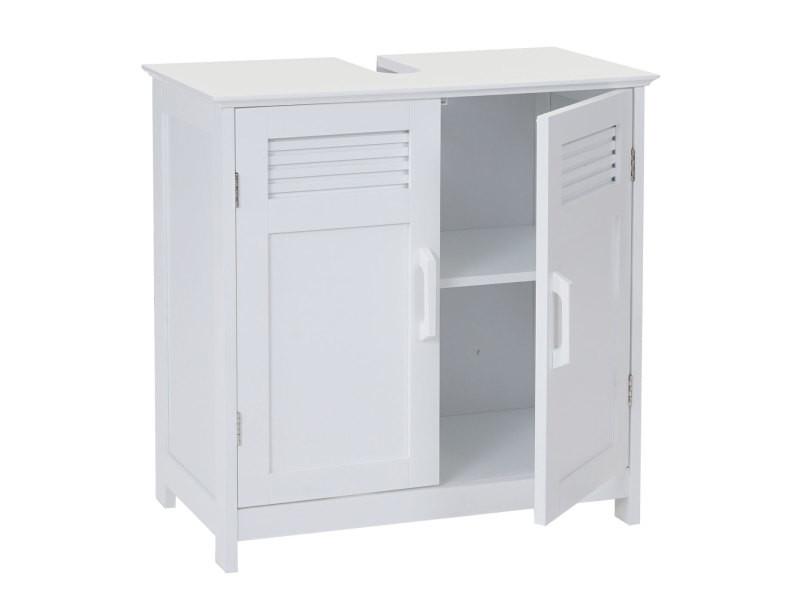 Meuble Sous Vasque Hwc A85 60x60x30cm Blanc Vente De Salle De Bain Pretes A Emporter Conforama