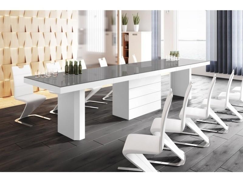 table 100 cm blanc