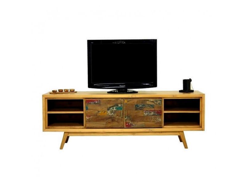wood meuble tv scandinave 180 cm