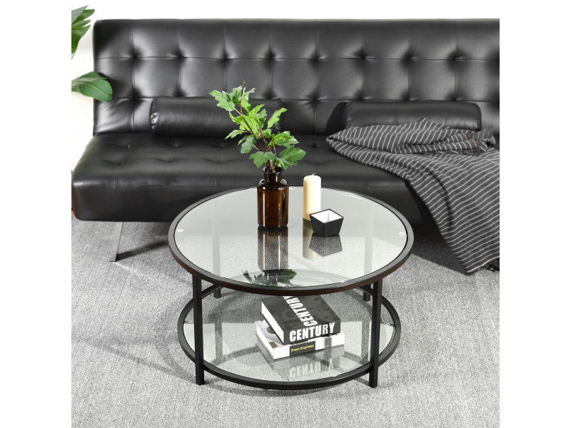 table transparents ronds