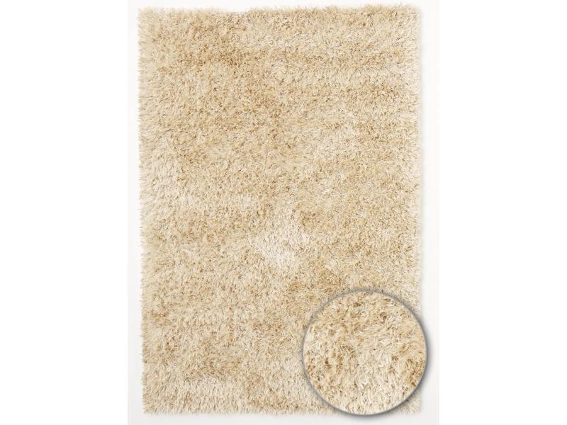 tapis shaggy poils long rectangulaire shaggy melange blanc salon tufte main adapte au chauffage par le sol