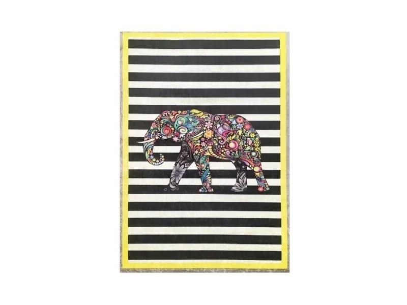 tapis salon jaune