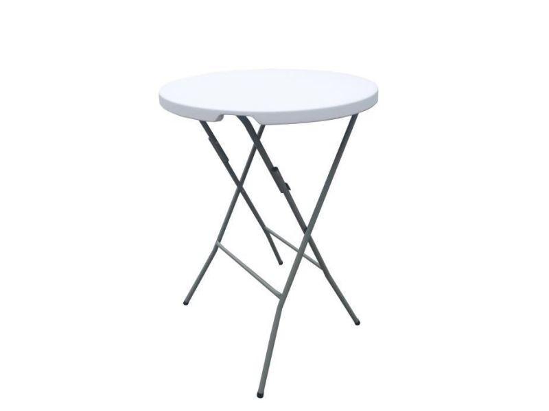 table de jardin vendue seule table mange debout pliable o 80 x 110 cm revetement en poudre en tubes d acier