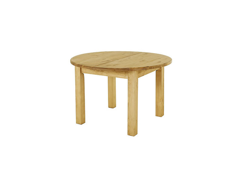 table a manger ronde 120 cm avec allonge en pin massif farm