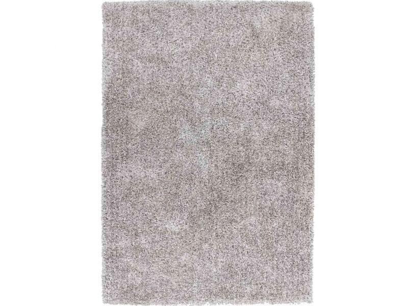 tapis shaggy uni soft gris 120x170cm
