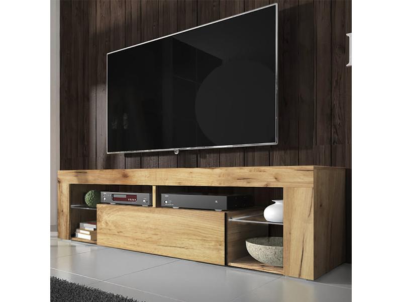 meuble tv banc tv bianko 140 cm chene lancaster