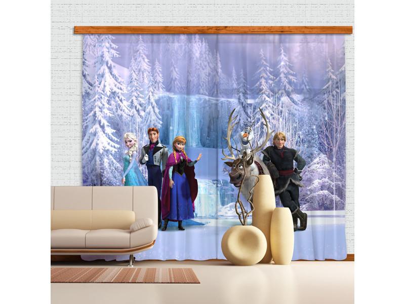 rideaux personnages la reine des neiges disney voilage 280x245 cm