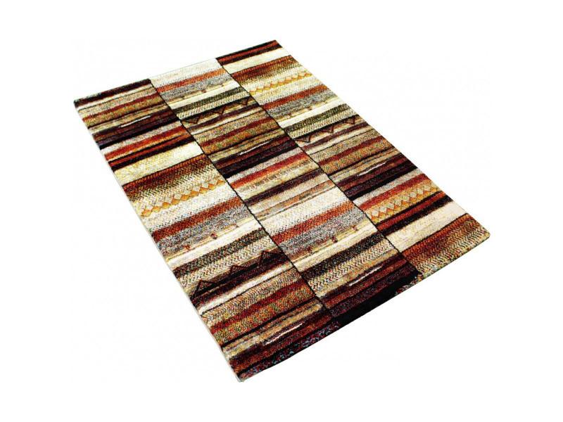 nazar tapis de salon marokko 80x150 cm beige et marron