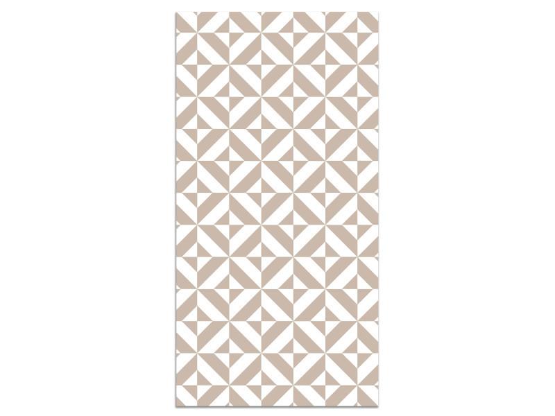 panorama tapis du sol vinyle geometrie rose 80x250cm tapis de cuisine en pvc linoleum vinyle antiderapant lavable ignifuge tapis pour cuisine