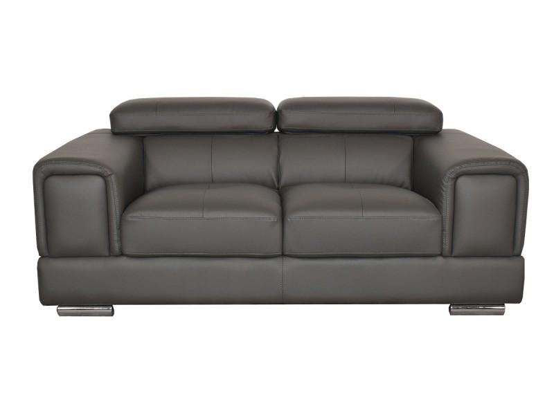 canape cuir gris