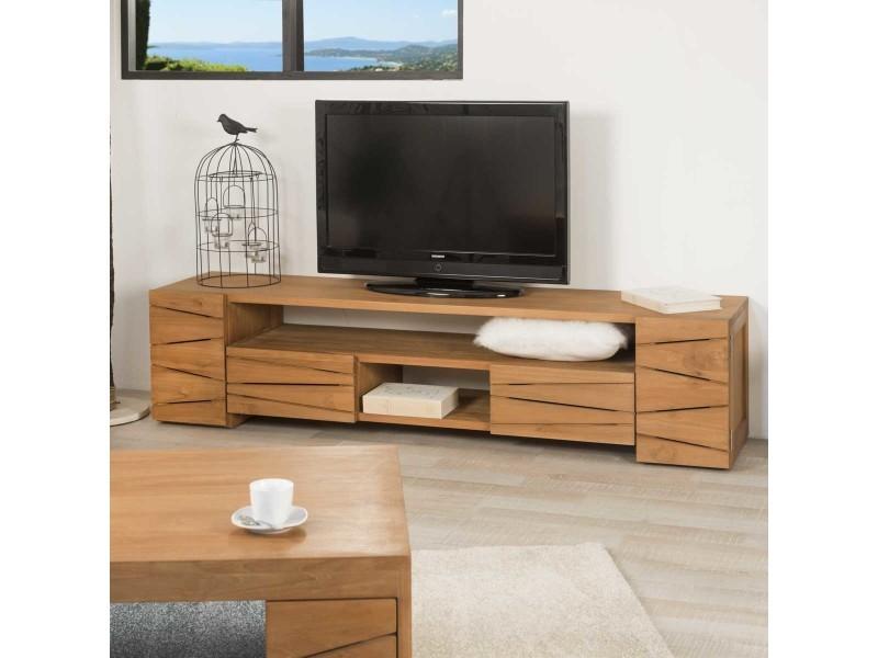 meuble tv teck