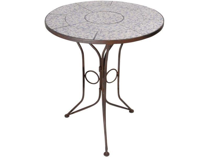 table en ceramique et fer forge