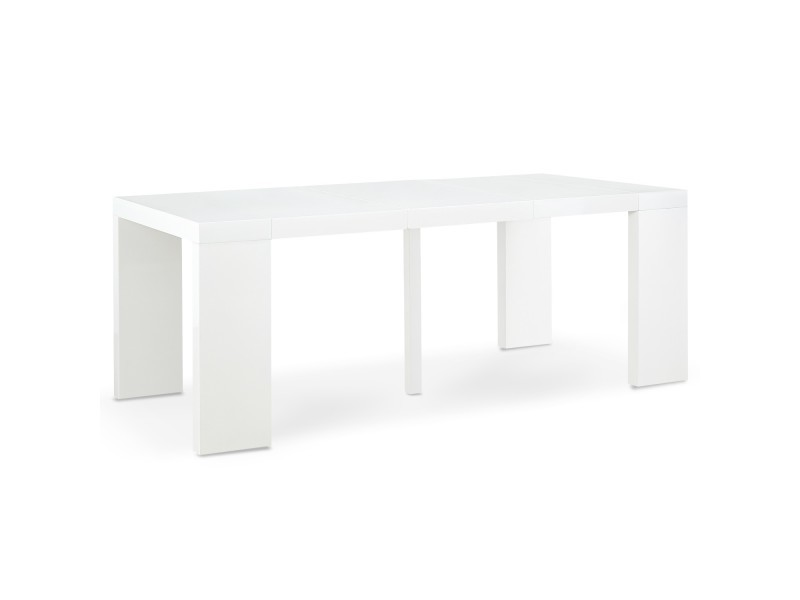 table console extensible oxalys blanc laquee