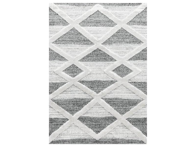 tizas tapis berbere a relief creme gris 80 x 250 cm pisa802504709grey