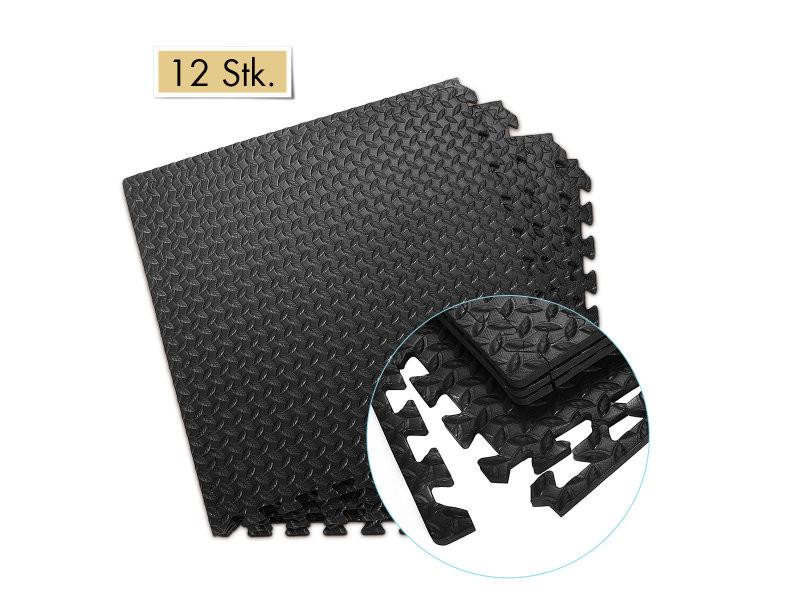 giantex 12 dalles tapis de protection de sol puzzle tapis de jeu mousse pour enfant bebe carrees en mousse eva 60 x 60 x 1 2 cm noir