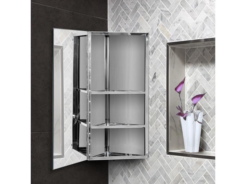 Armoire Miroir Rangement Toilette Salle De Bain Meuble
