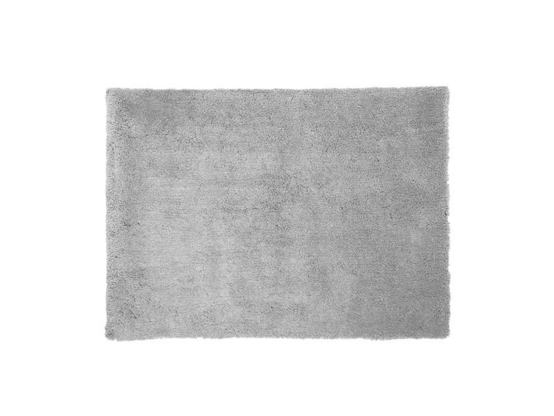 tapis doux 120x170 poils longs gris