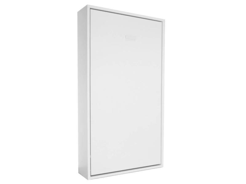 armoire lit escamotable smart v2 blanc mat couchage 90 200cm 20100846979 conforama