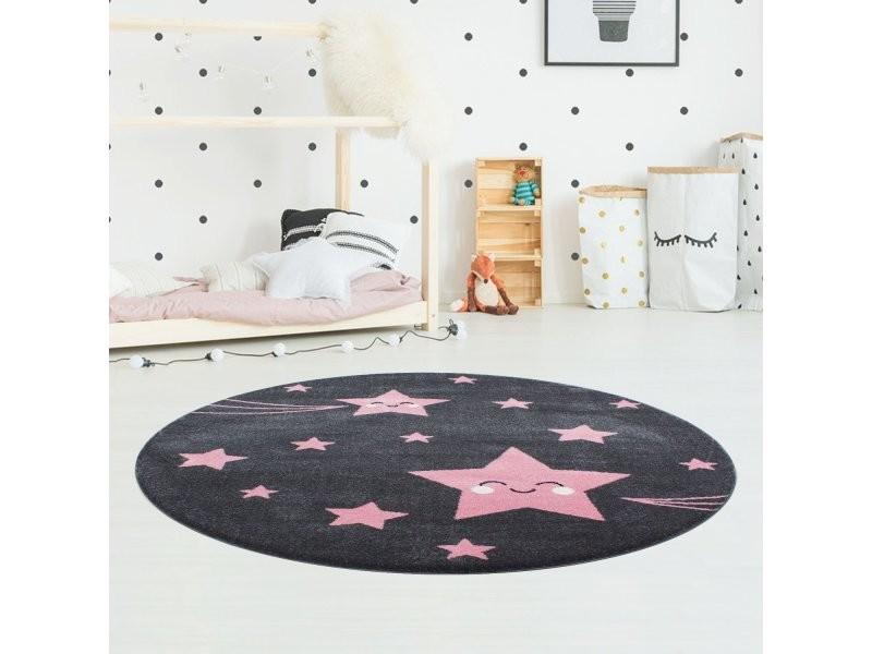 https www conforama fr enfant bebe decoration chambre enfant tapis enfant etoiles tapis enfant rond rose 120 x 120 cm kids1201200610pink p u46002644