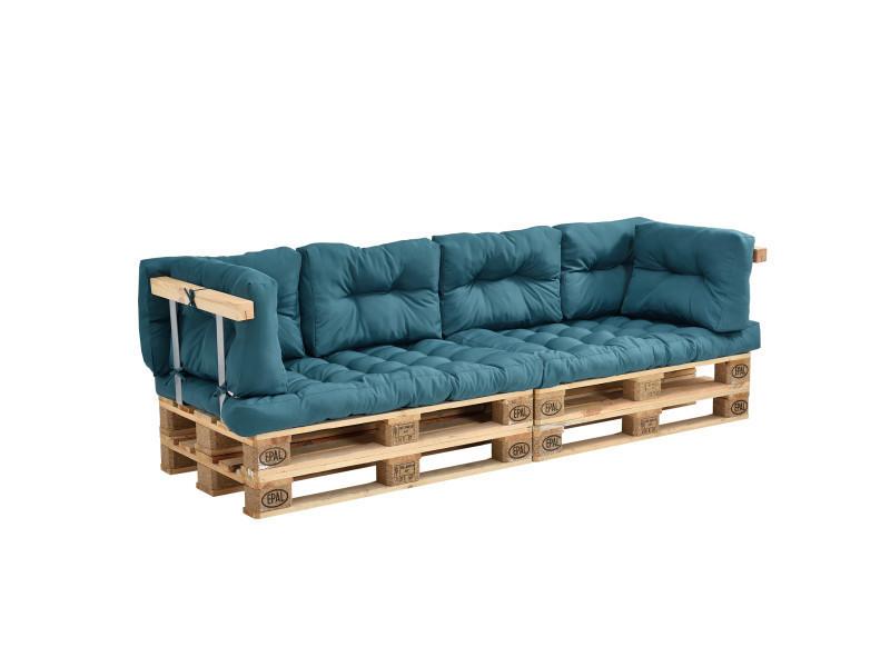 en casa coussins pour palettes 8 pieces coussin de siege coussins de dossier turquoise canape de palettes in outdoor