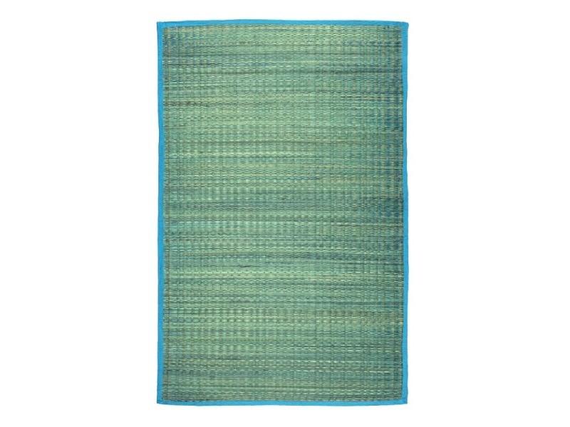 united tapis en jonc de mer bleu 70x110