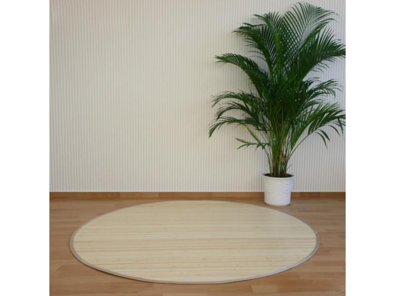 tapis rond en bambou naturel 120 cm pegane