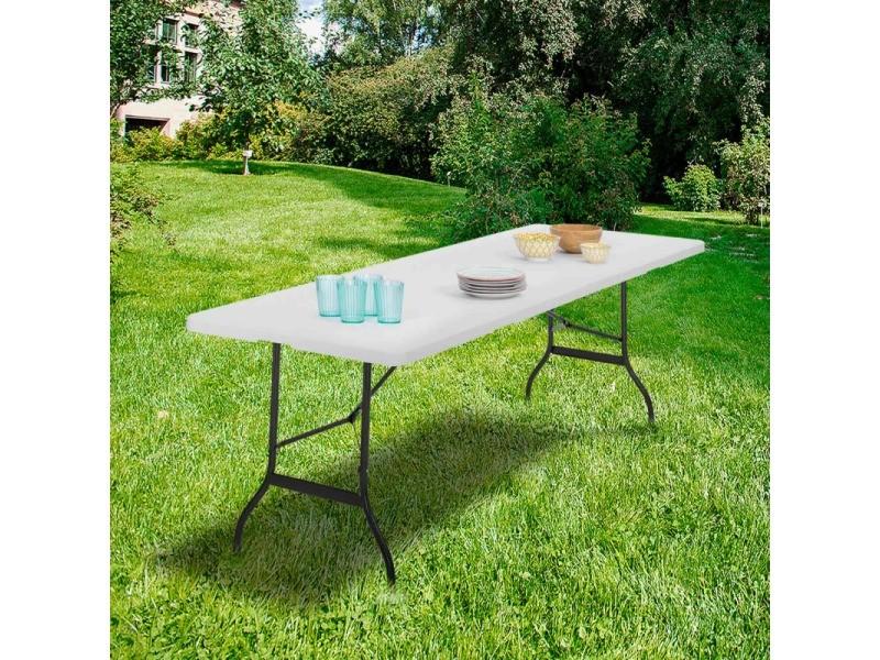 table pliante d appoint portable pour camping ou reception 180 cm