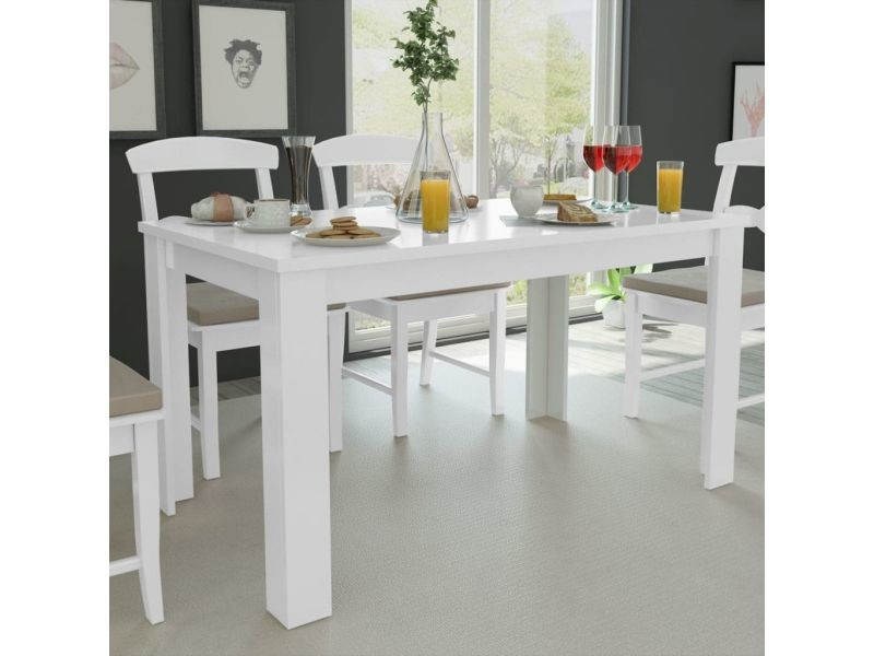 inedit tables reference la valette table de salle a manger 140 x 80 x 75 cm blanc