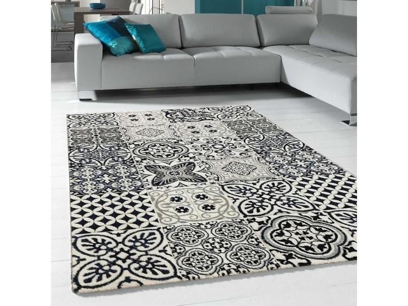 tapis salon cimento caro bleu 60 x 110 cm tapis de salon moderne design par unamourdetapis