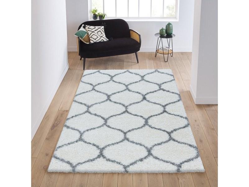 tapis motif gris 80
