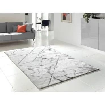 tapis moderne chic marmargento 80x150cm