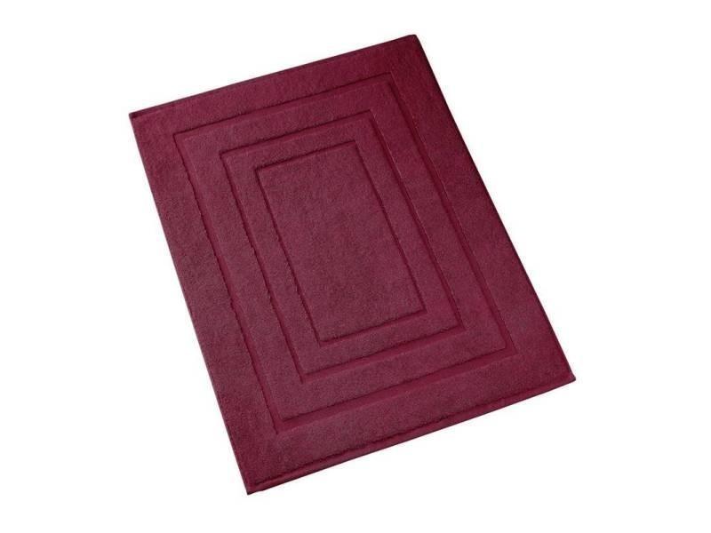 sans marque de witte lietaer pacifique tapis de bain 100 coton tapis de bain 60x100 cm rouge