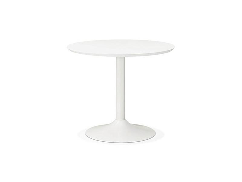 table ronde metal bois