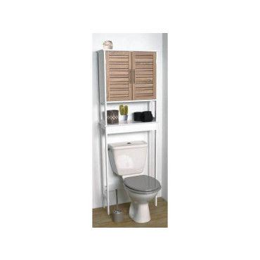 Meuble Dessus Toilettes Wc 2 Portes Aspect Chene Vieilli Vente De Meuble Et Rangement Conforama