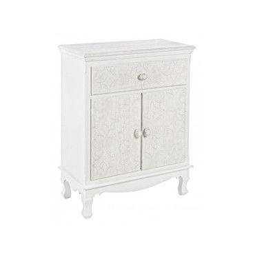 petit meuble avec 2 portes et 1 tiroir