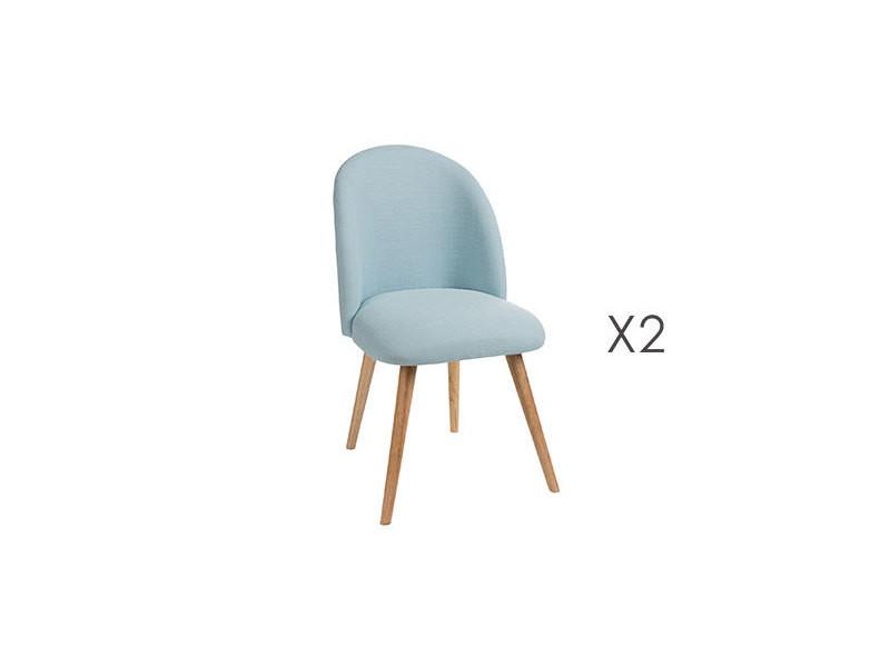 chaise tissus bleu